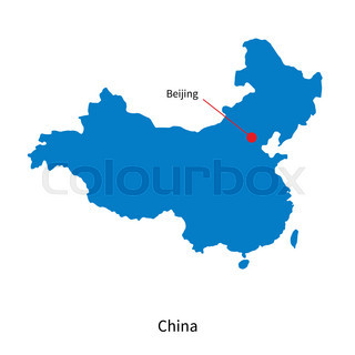 320x320 Highly Detailed Map Of China With All Different Regions And Main