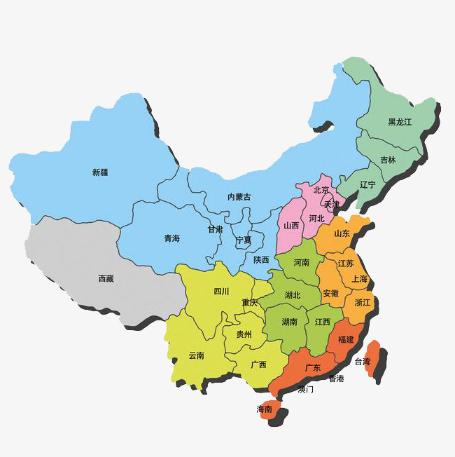 650x652 Map Vectors Of Provinces And Cities In China, China, Map, Vector