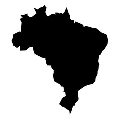 240x240 Black Simplified Flat Silhouette Map Of China. Vector Country