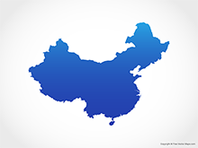 220x165 Vector Maps Of China Free Vector Maps
