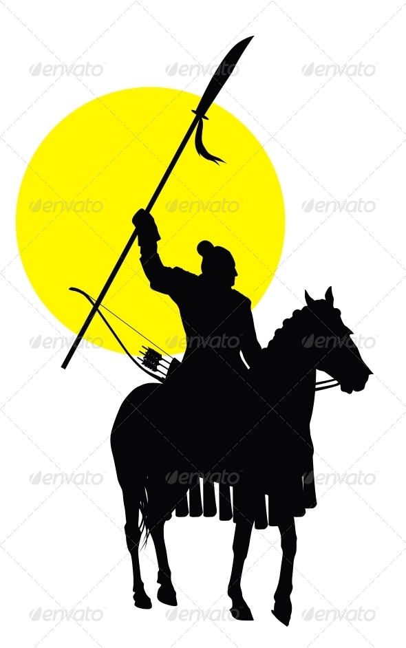 590x942 Chinese Horseman Oriental People, Silhouettes And Medieval