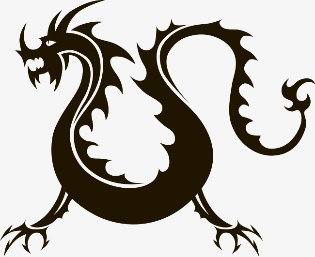 650x531 Silhouette Chinese Dragon Vector, Sketch, China, Vector