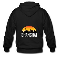 190x190 Sunset Skyline Silhouette Of Shanghai China By Awesome Shirts
