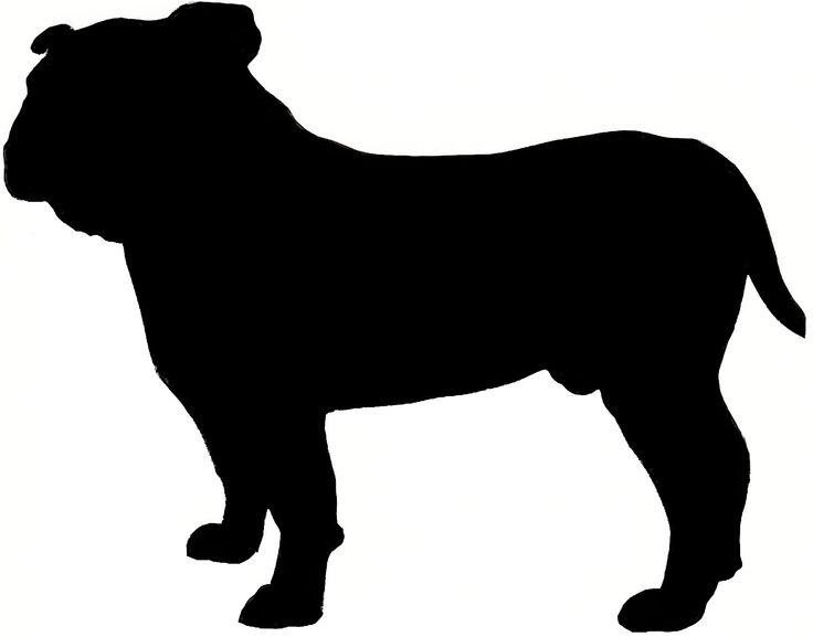 736x577 Bulldog Clipart Silhouette