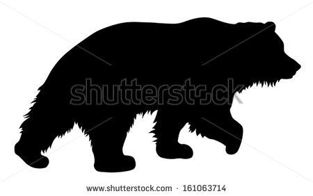 450x282 Free Black Bear And Cub Silhouette Clipart Free