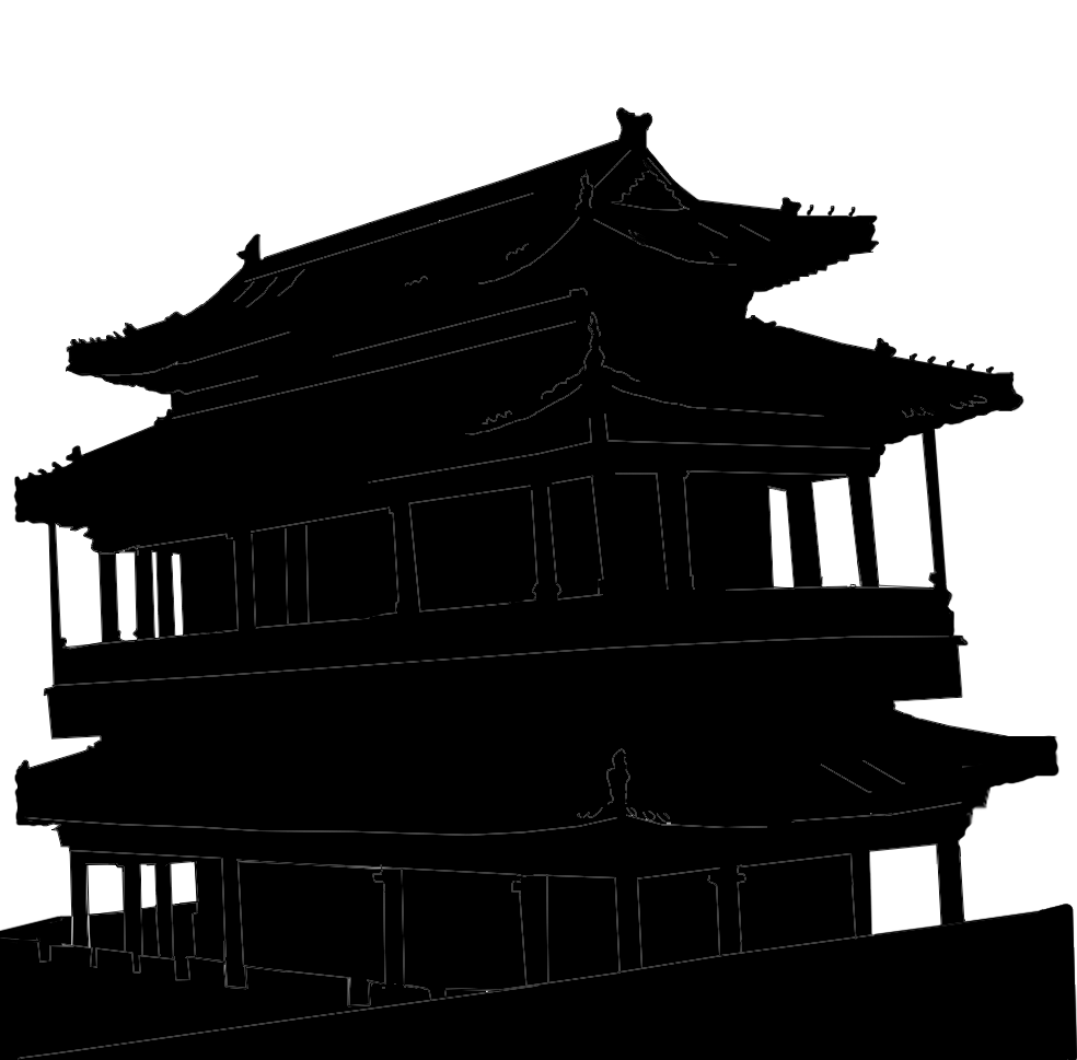 984x969 Stock Pictures Chinese Architecture Silhouettes