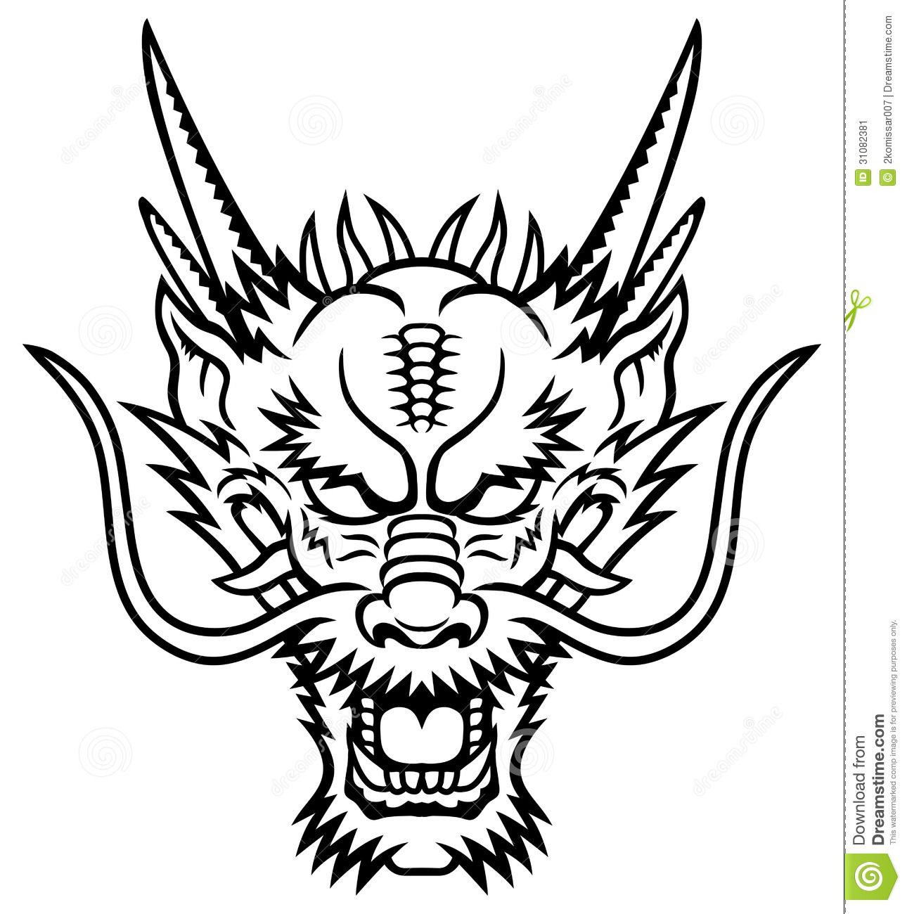 1290x1300 Dragon Head Stock Image