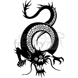 300x300 Royalty Free Chinese Dragons 005 383851 Vector Clip Art Image