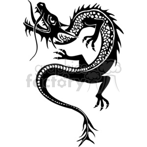 300x300 Royalty Free Chinese Dragons 041 383893 Vector Clip Art Image