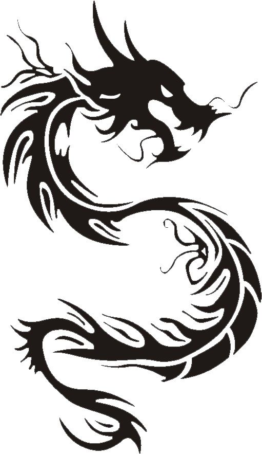 511x883 Awesome Tribal Dragon Tattoo Designs Chinese Dragon, Dragons