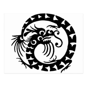 307x307 Custom Dragon Silhouette Postcards Zazzle.ca