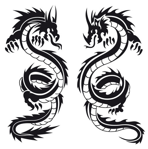 500x504 Free Tribal Dragon Clipart