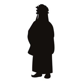 340x340 Free Silhouette Vector Lady, Woman, Dumplings