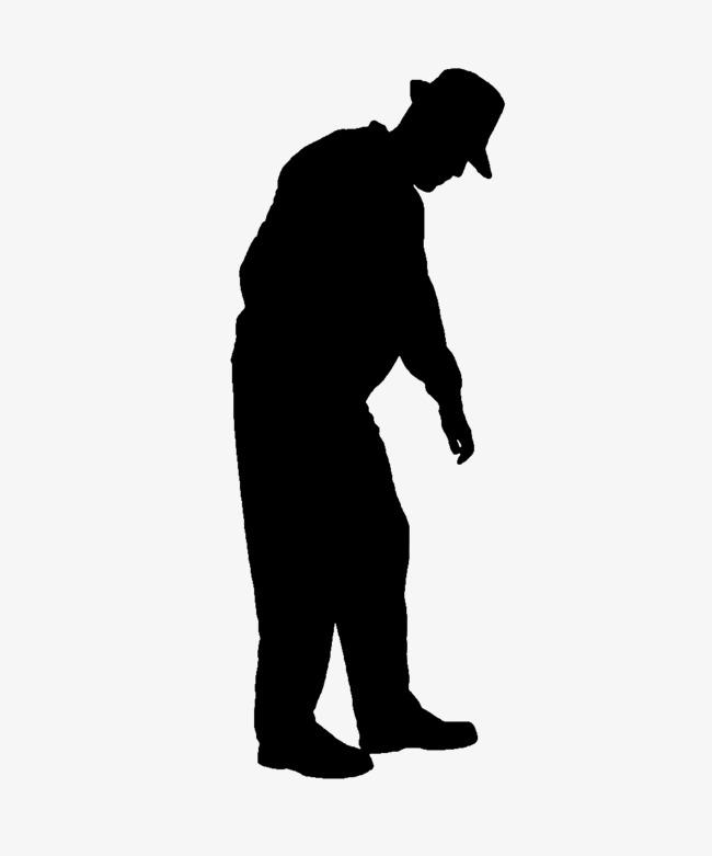650x781 Man Bending Down Silhouette, Sketch, Old People, Man Png Image