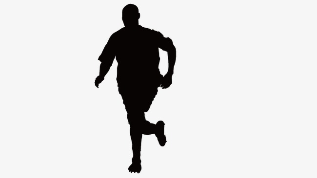 650x366 Running Man Silhouette, Fitness People, Silhouette Figures Png