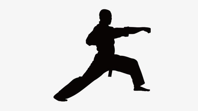 650x366 Taekwondo Silhouette Figures, Chinese Kong Fu, Vector Silhouette
