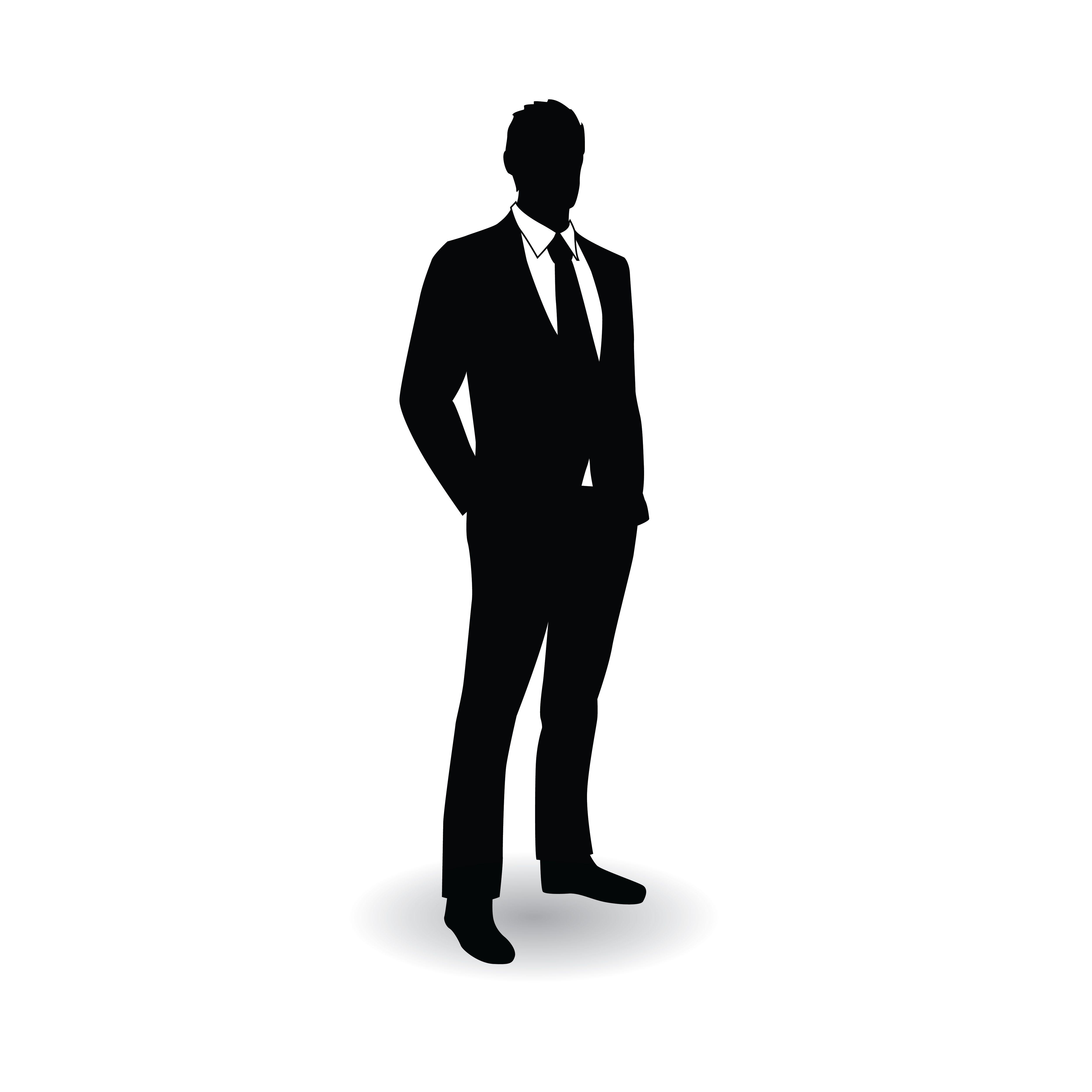5000x5000 Business Man Silhouette Pose Silhouette Pose