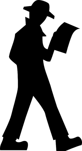 271x500 Chinese Man Silhouette Vector Image Public Domain Vectors