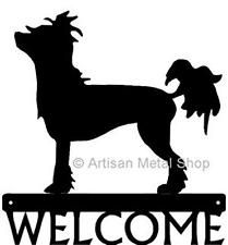 209x225 Dog Silhouette Metal Art Welcome Sign Wall Plaque 12