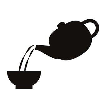 340x340 Free Silhouette Vector 2, Tea, Icon, Simple