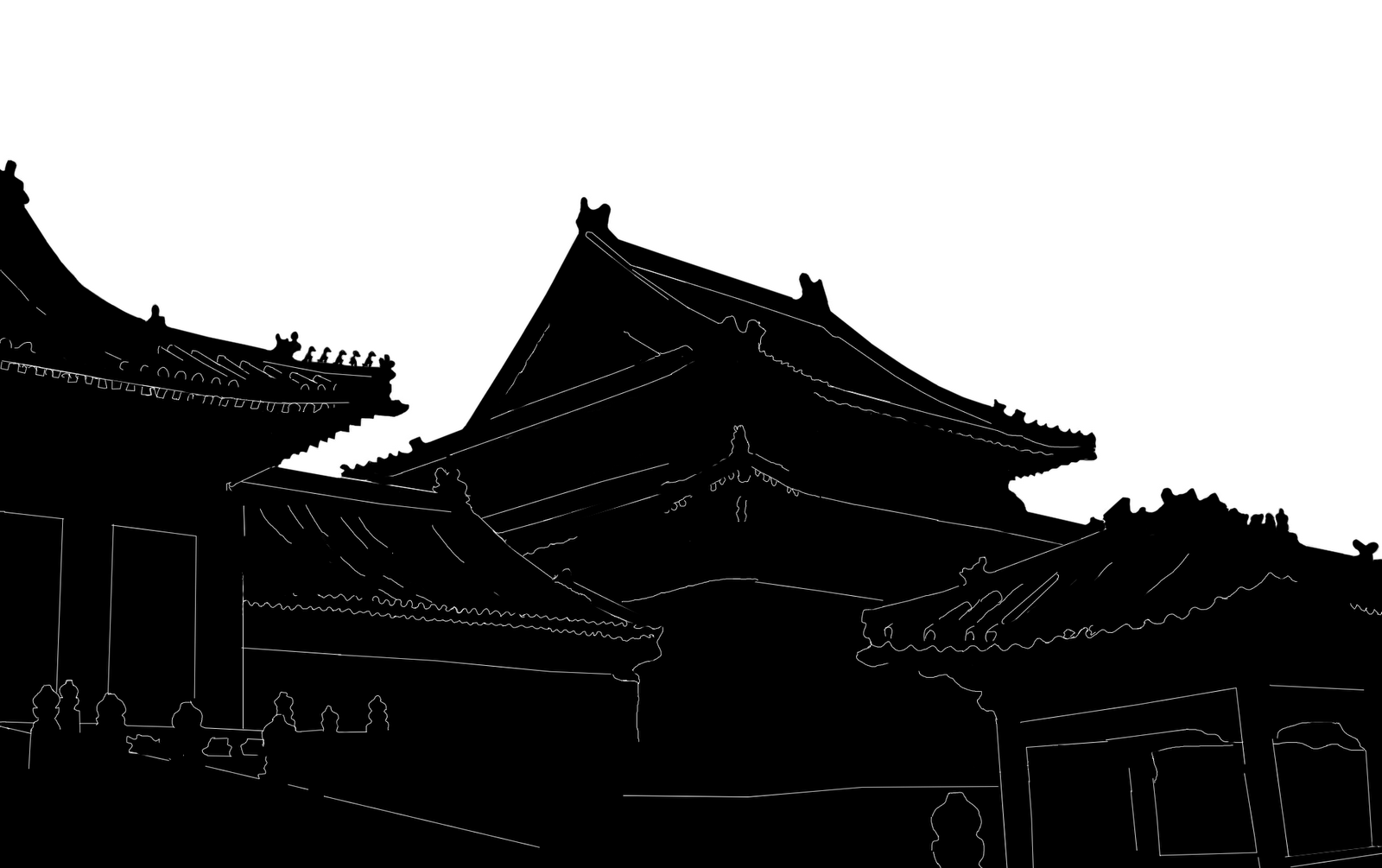 1600x1005 Stock Pictures Chinese Architecture Silhouettes