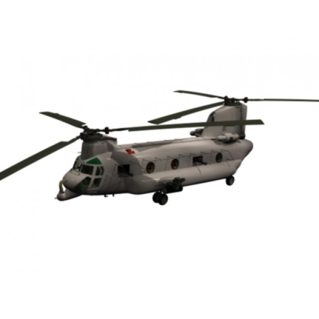 645x645 Chinook Helicopter 3ds Max Model Download