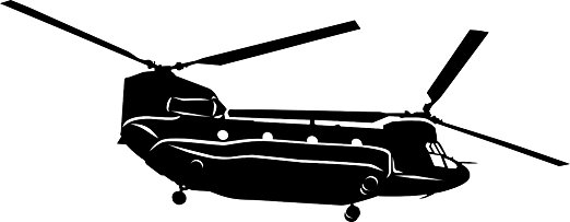 522x203 Large Detailed Boeing Chinook Helicopter Vinyl Decal