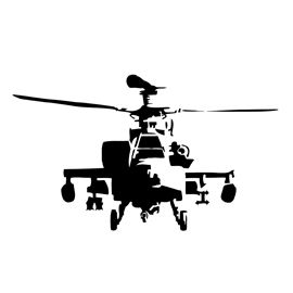 270x270 Apache Helicopter Stencil