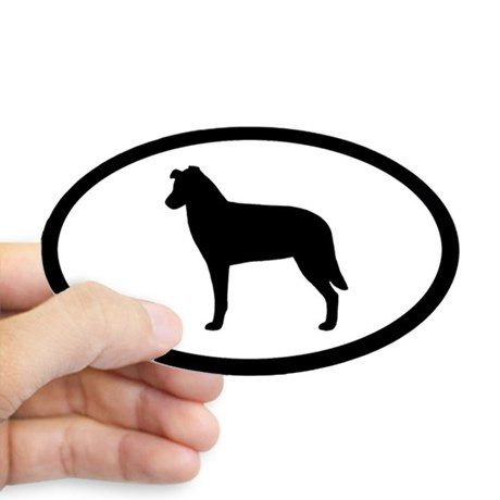 460x460 Chinook Dog Oval Stickers