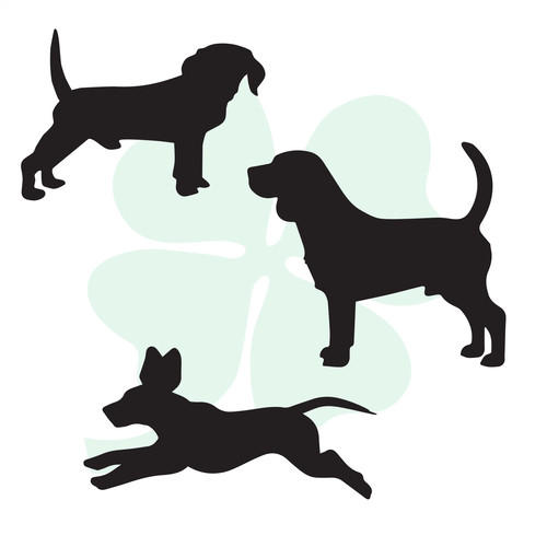 500x500 Custom Vinyl Decals Clever Clover Design Dogs, Dogs Amp More Dogs