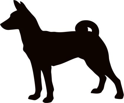 422x352 Basenji Dog Breed Silhouette Custom Vinyl Decal By Tattoosforcars