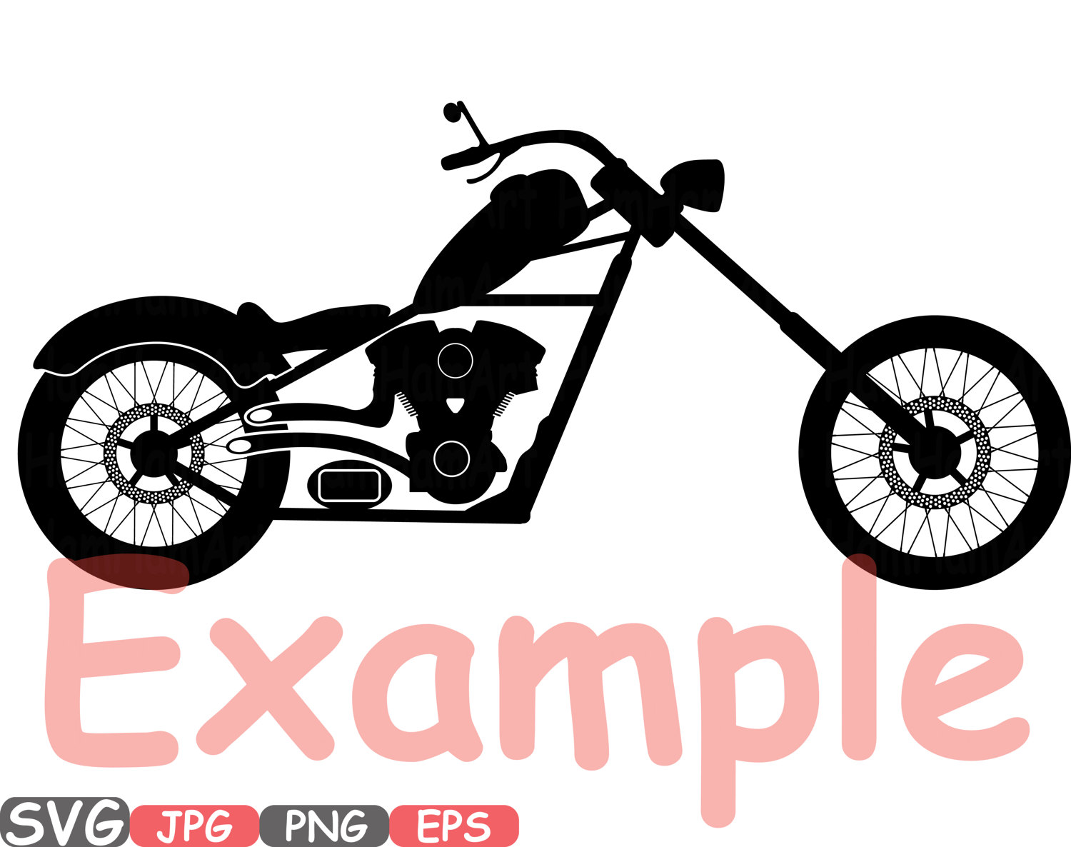 1500x1186 Choppers Monogram Motorbike Cutting Files Svg Motorcycle Svg