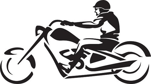 499x279 Abstract Chopper Motorcycle Ride Premium Clipart