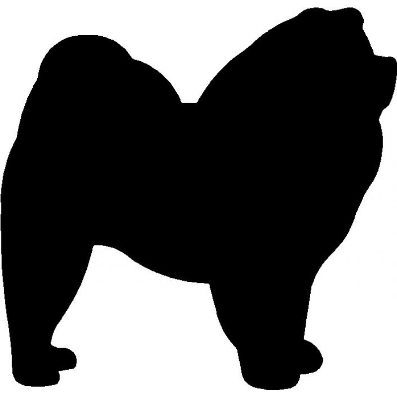 Chow Chow Silhouette At Getdrawings Free Download