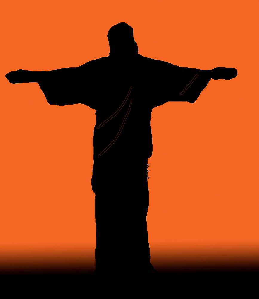 867x1000 Christ The Redeemer Silhouette Sunset By Kreativekate Redbubble