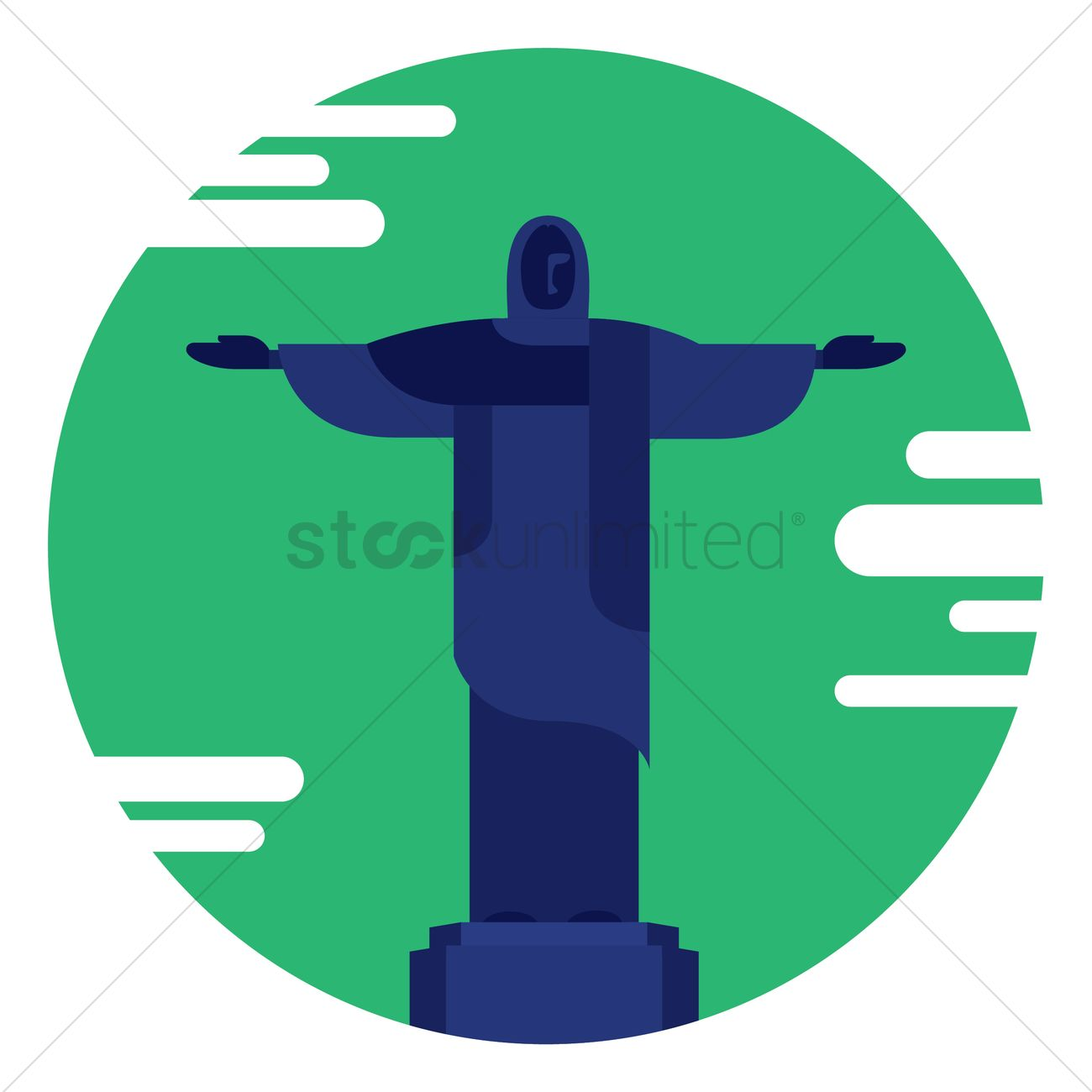 1300x1300 Christ The Redeemer Statue Vector Image