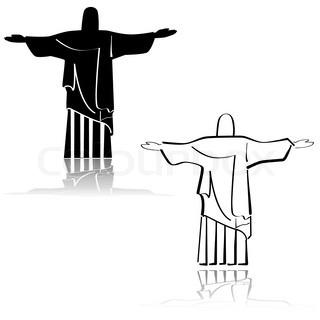 320x320 Silhouette Of A Statue To Jesus Christ In Rio De Janeiro Stock
