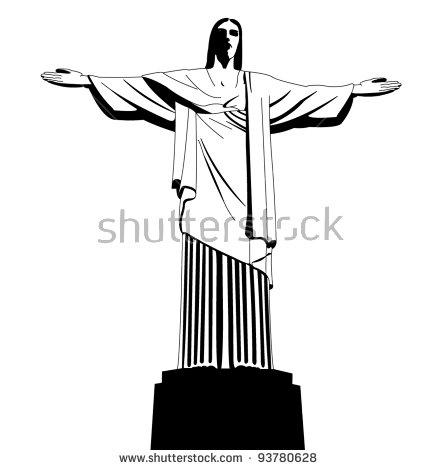 438x470 Christ The Redeemer Clipart