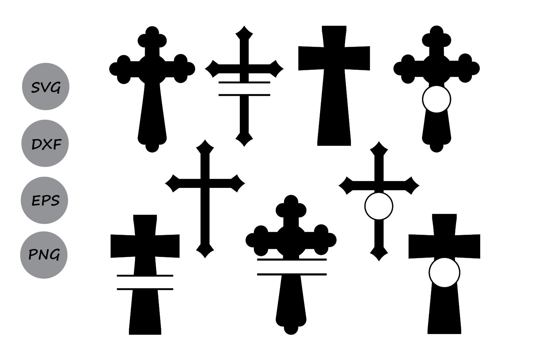 1500x1000 Cross Svg Silhouette, Christian Cross S Design Bundles
