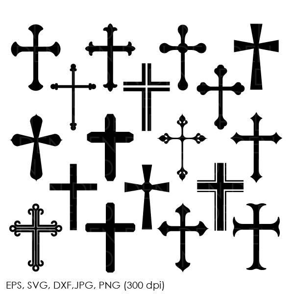 600x600 Cross Svg Silhouette Files Christian Svg Crosses Vector
