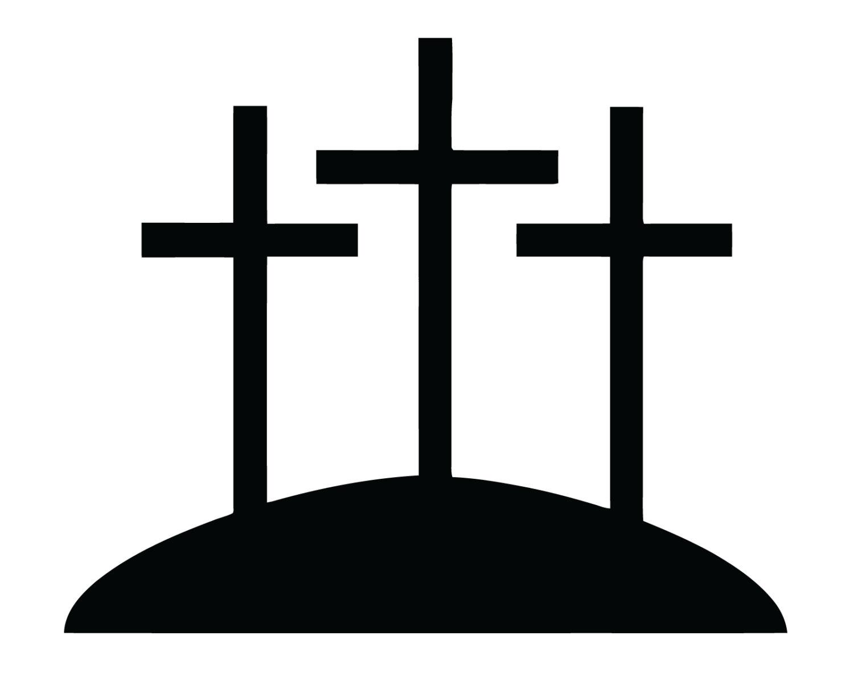 1500x1200 Three Crosses Decal 3 Crosses Sticker Christian 3 Cross