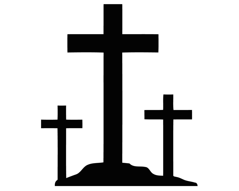 1500x1200 Three Crosses Decal 3 Crucifix Crosses Sticker Christian 3