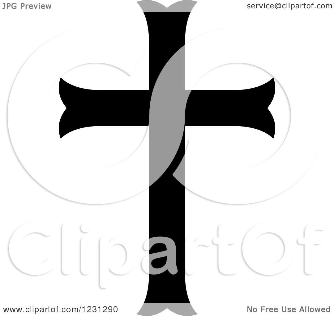 1080x1024 Clipart Of A Black And White Christian Cross 7