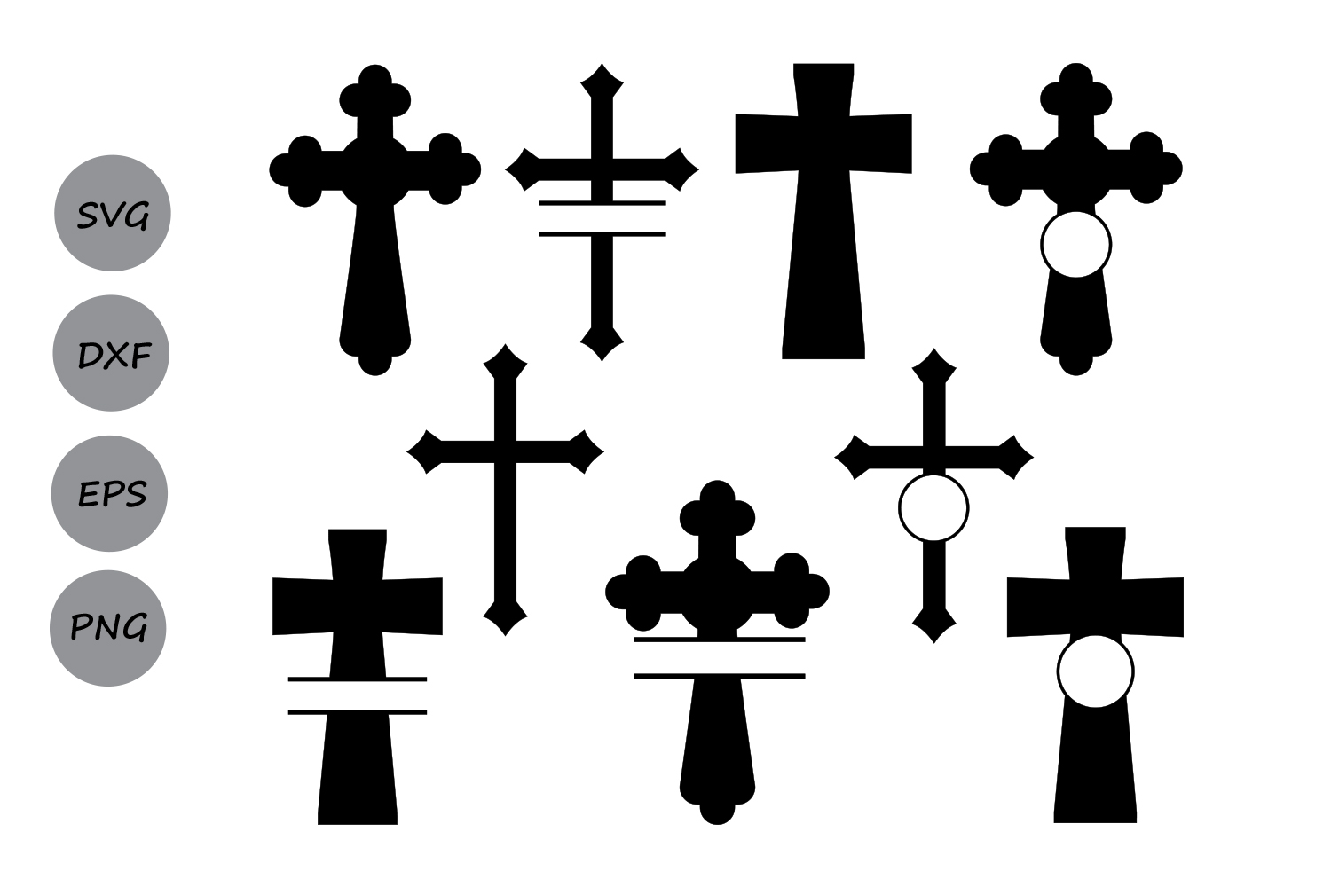 1500x1000 Cross Svg Silhouette, Christian Cross S Design Bundles