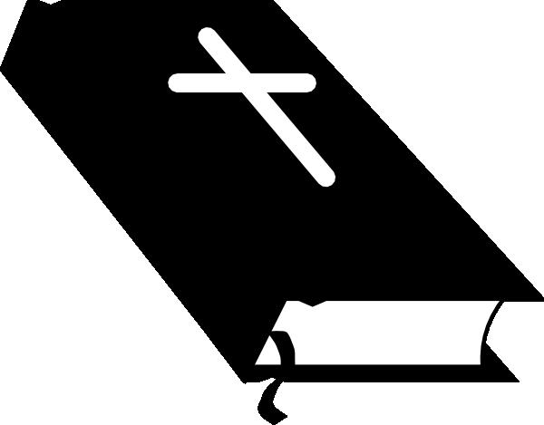 600x469 Christian Symbol Black Line Art For Kids Closed Bible 01 Clip