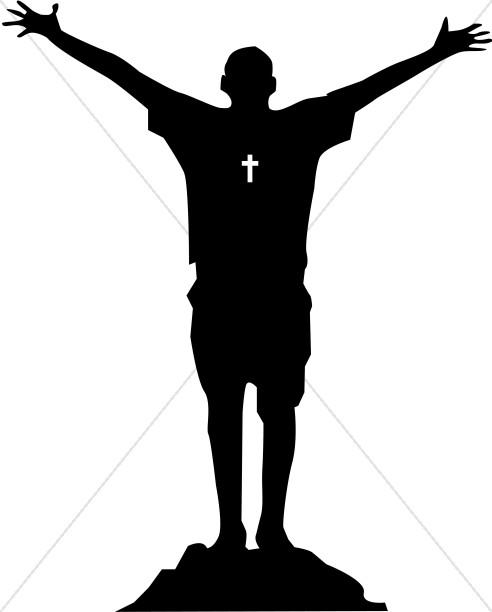 492x612 Christian Praise On The Rock Praise Clipart