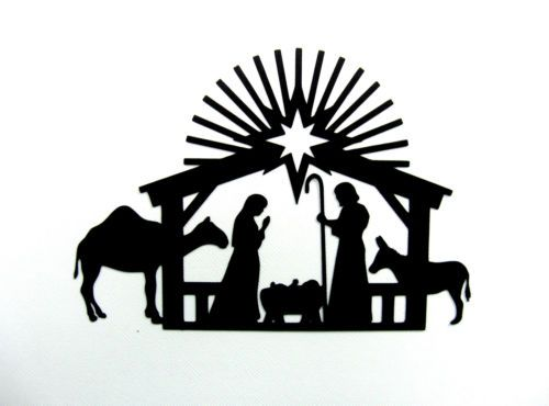 500x370 Nativity Welded As One Piece Bazzill Cardstock Die Cut Silhouette