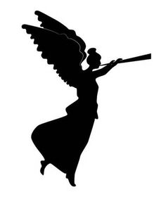 236x283 Angel With Trumpet Silhouette