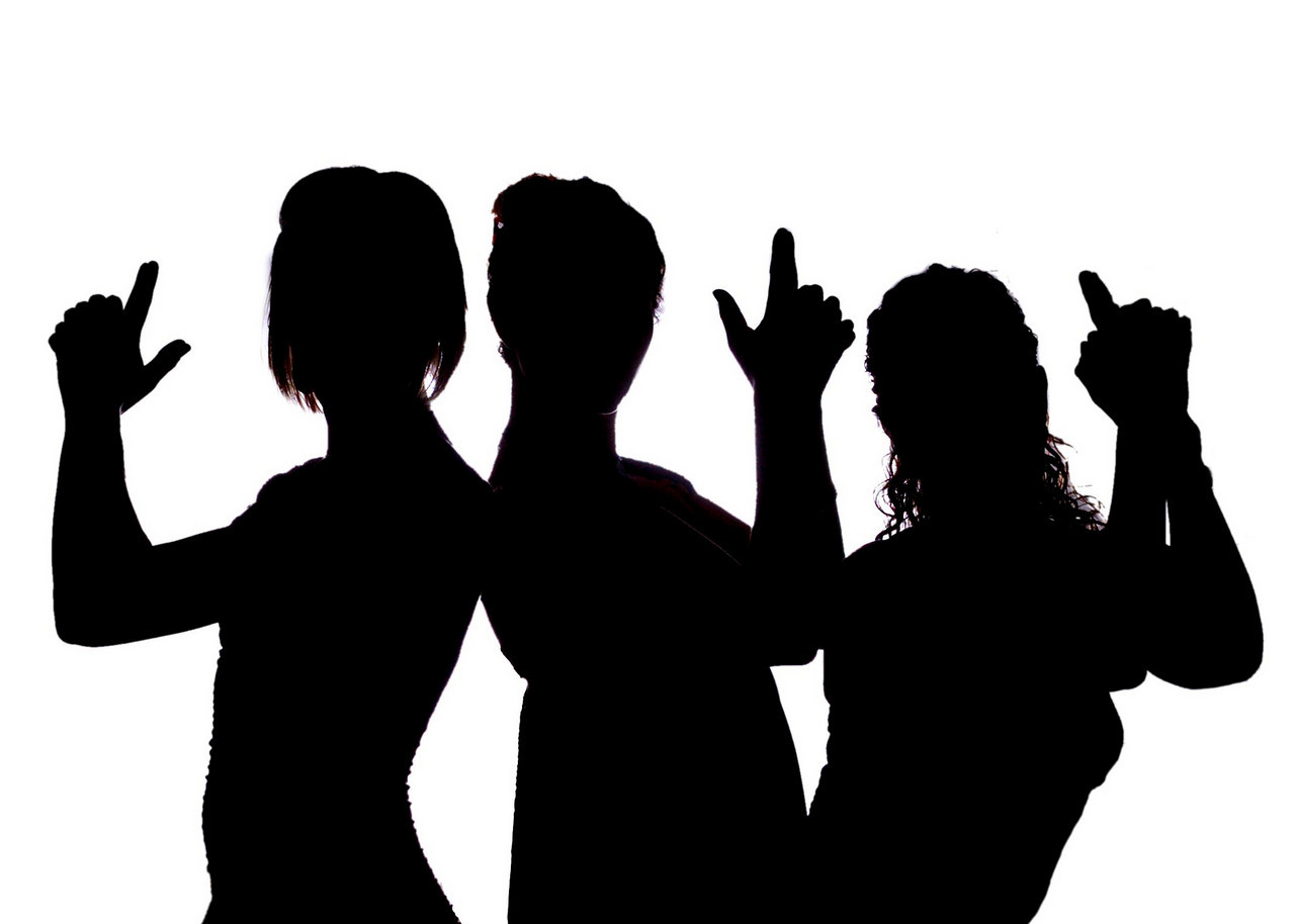 1280x914 Charlies Angels Silhouette Clip Art