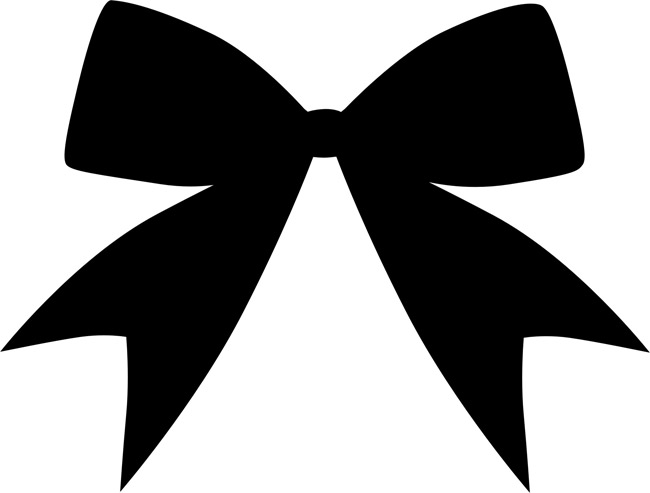 Christmas Bow Silhouette